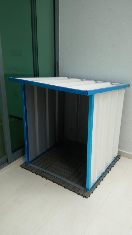 Custom made shelter for washing machine